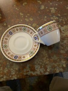 Mayer China. Demitasse Cup & Saucer, New Yorker Hotel - Excellent