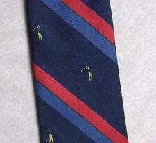 More details for vintage golf tie mens necktie retro sport golfing club grenadier