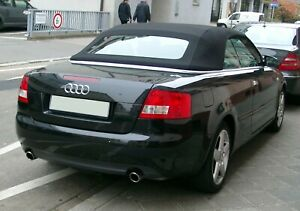 2003-2009 Audi A4/S4 Replacement Convertible Soft Top in BLACK GERMAN HAARTZ RPC