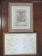 Vintage Antoine's Restaurant 100th Anniversary Menus New Orleans Framed Matted