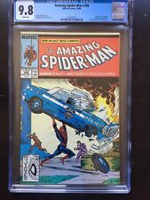 AMAZING SPIDER-MAN #306 CGC NM/MT 9.8; White pg!; Action Comics #1 cvr tribute!