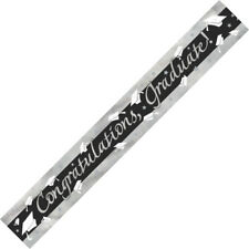 GRADUATION BANNER CONGRATULATIONS GRADUATE! PARTY SUPPLIES FOIL BANNER