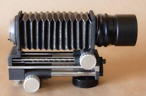 ALMOST MINT: Minolta Bellows And ROKKOR-X 100mm f4 Macro Lens / Caps / Hood