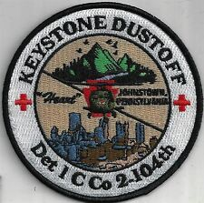 US ARMY DET 1 C CO 104 AVN PATCH-     'KEYSTONE DUSTOFF'      COLOR