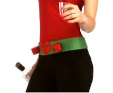 Forum Novelties Women's Naughty Or Nice Shot Glass Belt, Red/Green, One Size