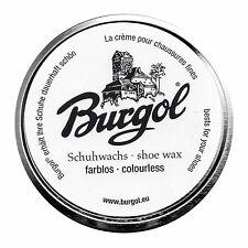 Burgol Schuhwachs Schuhcreme, Schuhpolitur farblos neu 100ml
