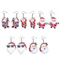 Newly Earrings Novelty Christmas Gift Tree Party Dangle Xmas Santa New Year Gift