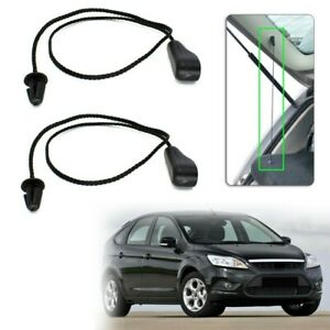 2X Rear Interior Tonneau Hatch Cover Lift String Strap For FORD FOCUS HATCHBACK