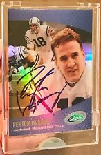 *CERTIFIED AUTO / AUTOGRAPH* 2000 Peyton Manning e Topps Colts Broncos signed