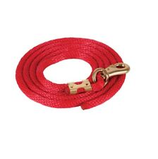Solid Poly Lead Rope Bull Snap for Horses Red Broken in