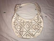 White XOXO Studded Purse Handbag Zipper Close
