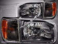 For Nissan Pathfinder 99-04 Black Housing Clear Cover Lens with Corner Lights