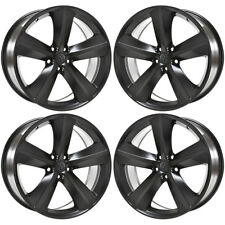 "20"" DODGE CHARGER CHALLENGER SRT8 BLACK WHEELS RIMS FACTORY OEM SET 2329"