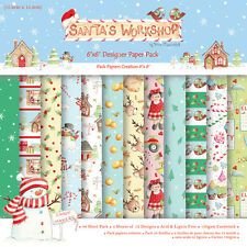 "Helz cuppleditch Santa's Workshop muestra papel Pack 12 hojas de 6 ""x 6"""