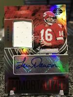2020 Illusions Immortalized Len Dawson Rare Game Used Jersey Patch Auto SSP /25!