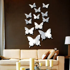 New Removable Crystal Acrylic Mirror Butterfly Wall DIY Stickers Living Room