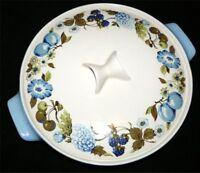 Iroquois Casserole Informal China Ben Seibel Design Blue Vineyard Made USA