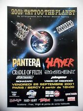 PUBLICITE-ADVERTISING :  TATTOO THE PLANET  2001 Pantera,Slayer,Cradle Of Filth