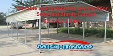 Large Steel Carport, Shelter 6.2x6.2M Yard, Backyard shelters, Portable Carports