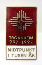 Trondheim,Norway 997-1997 Midtpunkt i tusen år 1000th anniversary pin #2508