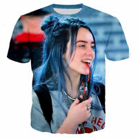 Singer Billie Eilish 3D Print Casual T-Shirt Fashion Women Men Short Sleeve Tops