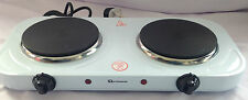 NEW 2000W PORTABLE ELECTRIC TWIN DUAL HOT PLATE TABLE TOP DOUBLE HOTPLATE COOKER