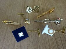SMALL LOT VINTAGE TIE CLIPS/TIE PINS & CUFFLINKS