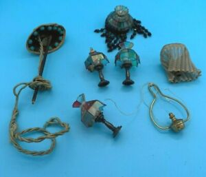 DOLLS' HOUSE MINIATURES - SELECTION OF VARIOUS LAMPS & PARTS
