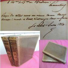 JOCELYN /  ENVOI AUTOGRAPHE & SIGNATURE de LAMARTINE 1836 2/2 vols EO