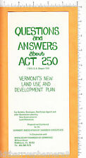 6608 Vermont Act 250 Environmental Protection Law 1970 flier Middlebury, Vermont