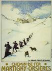 CATHOLIC Monks Monastery Ski Sport Chemin de Fer Vintage Poster Repo FREE S/H