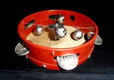 1959 USSR Russian Soviet Vintage Сhildren's Musical Instrument TAMBOURINE in Box