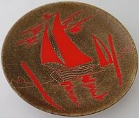 Good Poole Pottery Aegean Yachts / Boats Dish Designed By Leslie Elsden - 1970's