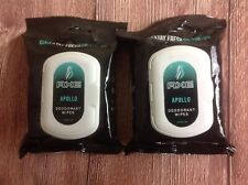 Axe Apollo Deodorant Wipes 25 Count Active Fresh Gym Refresher Lot of 2 Packs