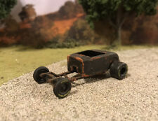 1932 Ford Roadster Hot Rod Rusty Weathered Custom 1/64 Car Barn Find Rat Rod