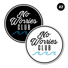 No Worries Club Stickers Decal Surfboard Vintage Skate Surf