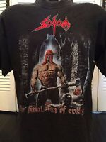 Rare Sodom Final Sign Tour Shirt Sz L/XL Death Rock Thrash Grind Core Metal 666