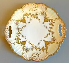 """Limoges Hand Painted Plate w handles  10.25"""" #578"""