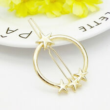 Gold Triangle Hair Clip Pin Metal Geometric Alloy Star Ponytail Barrette♡