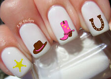 Cowgirl Nail Art Stickers Transfers Decals Set of 72