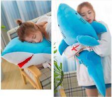 110cm Blue Huge Shark Stuffed Animal Plush Soft Baby Toys Doll Pillow Kids Gift