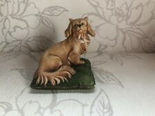 More details for gorgeous vintage capodimonte pekingese/colllectable dog on cushion figurine