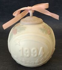 "Lladro ~ 1994 ~ 3½"" Ornament Ball ~ #6105 ~ White Bisque Porcelain"
