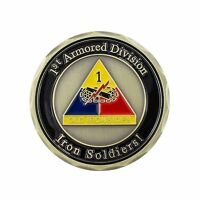 """AttaCoin """"Rolling Thunder"""" Old Ironsides Challenge Coin - 1st Armored Division"""