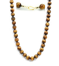 Individually knotted premium grade 12mm tiger eye bead necklace-24""