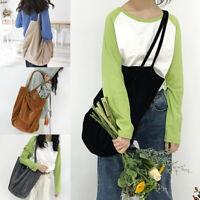 Women's Canvas Corduroy Tote Bags Handbag Ladies Shoulder Bag Large Capacity