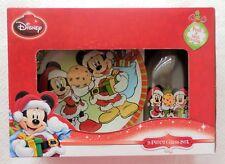 Disney - Mickey & Minnie Cookies for Santa [Plate & Milk Bottle w/ Straw] (NIB)