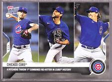 Chicago Cub Davies Tepera Chafin Kimbrel Throw No-Hitter 6.24 2021 Topps Now 409