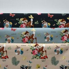 """Disney Cotton Fabric Character Fabric by the Yard 44"""" Wide SG Bambi Forest"""