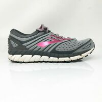 Brooks Womens Ariel 18 1202711B091 Grey Pink Running Shoes Lace Up Size 9 B